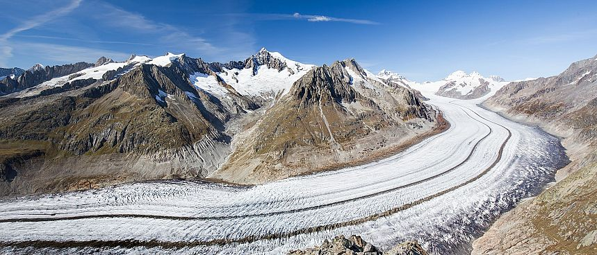 Unesco World Heritage: Aletsch Glacier near Brig