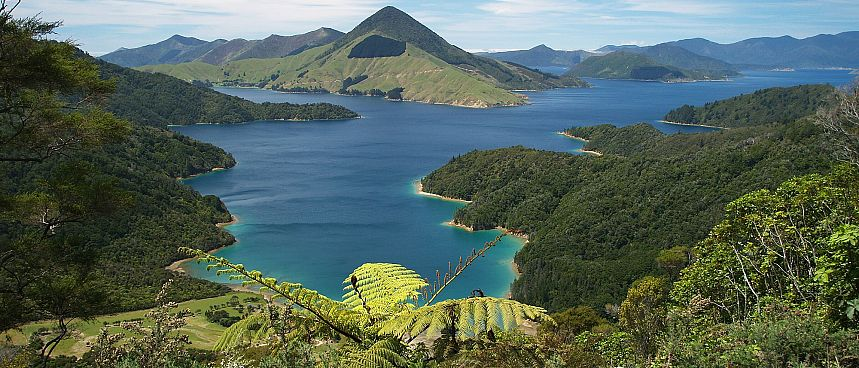 Ertrunkenes Flusssystem: Marlborough Sounds