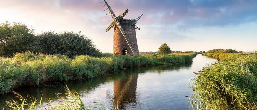 Brograve Windmill in den Norfolk Broads