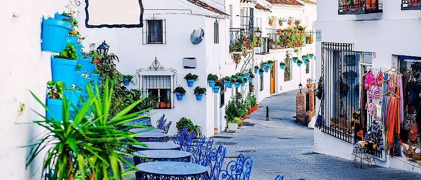 Moorish flair: Small coastal town in Andalusia