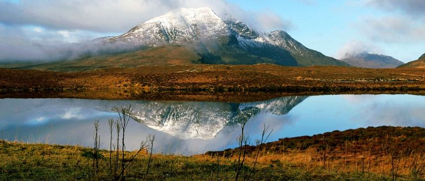 Treeless expanses: Scottish Highlands