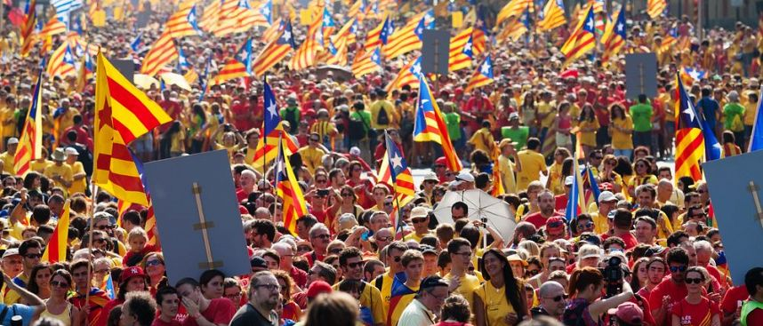 For the Independence of Catalonia: March in Barcelona
