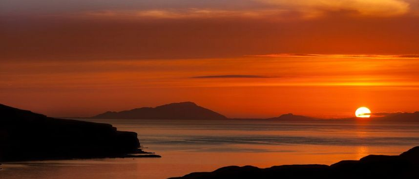 View of the Outer Hebrides from Skye