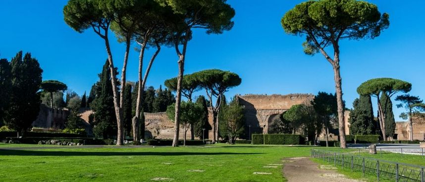 Lazio: ancient thermal baths of Caracalla