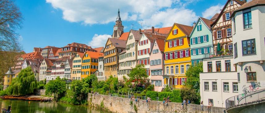 Happy student town: Tübingen on the Neckar