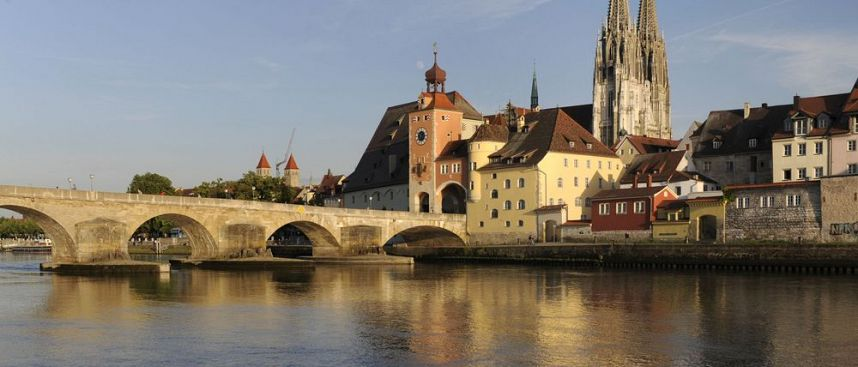Medieval Regensburg: Stone Bridge and Cathedral