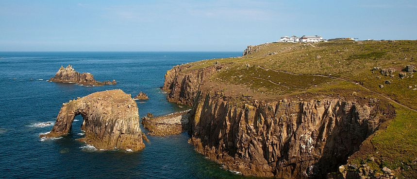 The western tip of England: Land's End