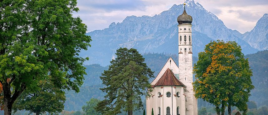 Baroque churches against an alpine backdrop: Allgäu
