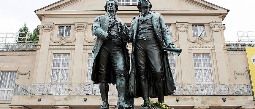 Great German thinkers: The Goethe-Schiller Monument