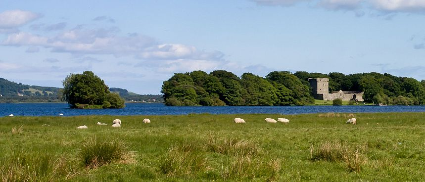 Tucked away on an island: Loch Leven Castle