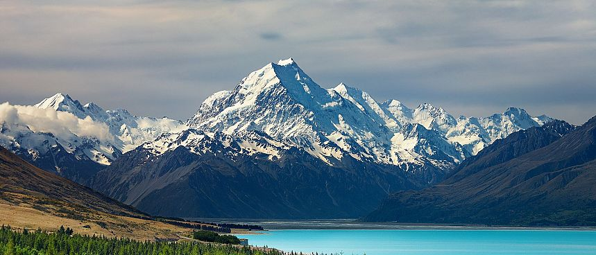 Mount Cook mit Lake Pukaki