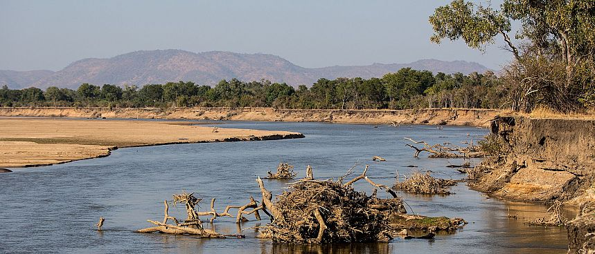 Luangwa-Fluss im South Luangwa National Park