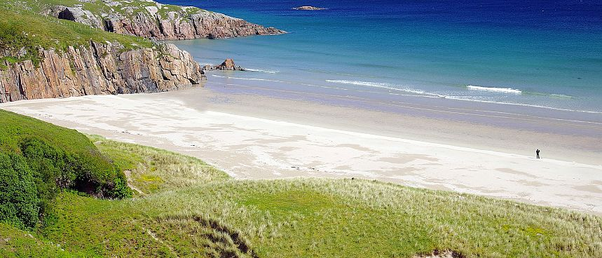 Pristine sandy beaches and steep coastline: Durness