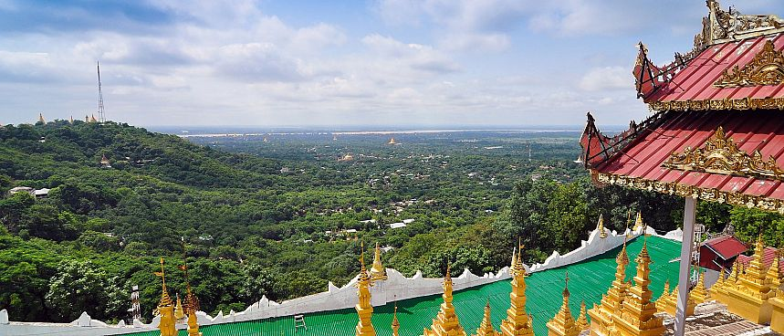 Mandalay Hill Pagode: Blick über die Stadt