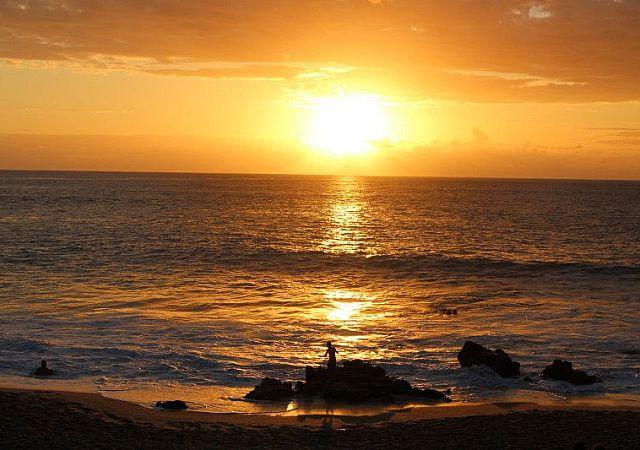 Sonnenuntergang in Boucan Canot